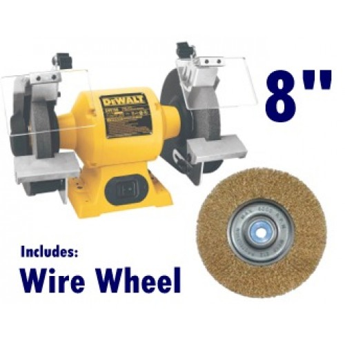8 Quot Dewalt Bench Grinder With Wire Wheel Model Dw758